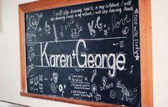 chalk board decor