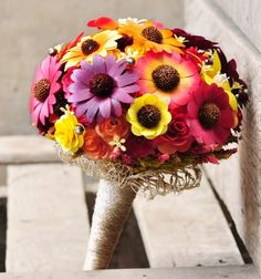 Autumn Wooden Sunflowers Bouquet for Wedding or Home Decoration