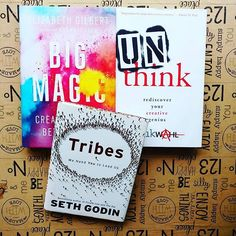 Happy #WorldBookDay! Here are 3 of my faves and must-reads for anyone on a creative journey.  What are you reading right now?  #books #reading #bookstagram #book #book📚 #bookworm #bigmagic #ElizabethGilbert #tribes #SethGodin #Unthink #ErikWahl #creativelife #creativity #creativejourney #love