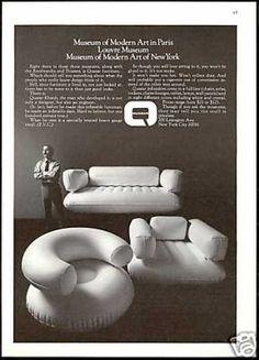 Quasar Khanh Inflatable Furniture Chair Quasar (1970) , turn it into over-stuffed bean bag furniture