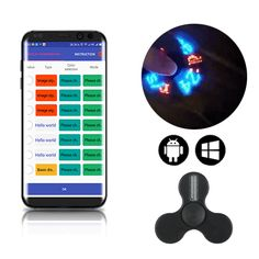 Sale 23% (10.99$) - MATEMINCO Intelligent LED APP Control Fingertips Gyro Rotation Chargeable EDC Hand Spinner