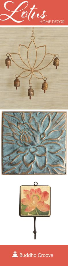 Lotus Home Decor - Add lotus accents to your home to inspire growth and triumph over adversity. #lotus #homedecor