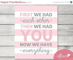 SUMMER SALE First We Had Each Other Pink and Grey par igivelove