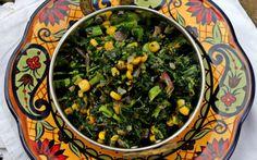 Kale and Roasted Corn Stir Fry