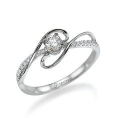 FiligreeEngagement Ring Art Deco Engagement por gispandiamonds, $850.00