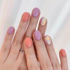Nail Manicure, Gel Nails, Korea Nail Art, Korean Nails, Fire Nails, Minimalist Nails, Short Nail Designs, Cute Acrylic Nails, Stylish Nails