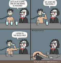"""Morbid Comics Where Death Is The Punchline - Funny memes that """"GET IT"""" and want you to too. Get the latest funniest memes and keep up what is going on in the meme-o-sphere. 9gag Funny, Funny Gifs, Funny Videos, Stupid Funny Memes, Funny Relatable Memes, Funny Shit, Funny Stuff, Memes Humor, 9gag Amusant"""