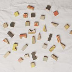 Handpainted wooden blocks by FRANKY'S