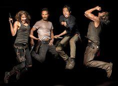 Lauren Cohan, Andrew Lincoln, Steven Yeun And Norman Reedus (The Walking Dead )