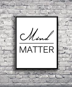 Mind Over Matter - Instant Download Digital Print -   After purchasing you will receive an instant download of your artwork in the form of a high resolution (300 dpi) JPEG and PDF that can be printed in these sizes: 16 x 20 (41 x 51cm)  8 x 10 (20 x 25cm)   If you would like one of our designs in a different color or size, please message us and wed be happy to customize it for you! Easily download and print your artwork at your local or online print shop such as Snapfish, Staples, or…