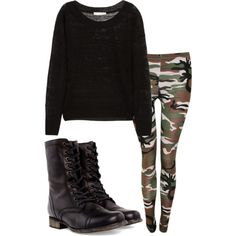 OOTD: getting ready for school . by its-lizz on Polyvore featuring polyvore, fashion, style, Kain, Steve Madden and clothing