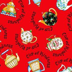 Mary Engelbreit Fabric TEAPOT Tea