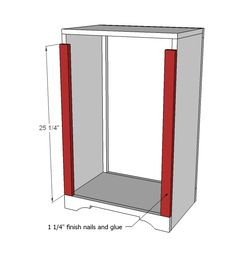 Ana White   Wood Tilt Out Trash or Recycling Cabinet - DIY Projects