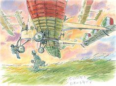 """Dessin préparatoire de Hayao Miyazaki pour """"Le vent se lève"""""""