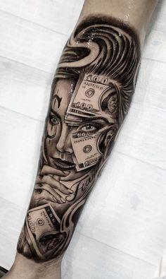 Girl Face Tattoo, Face Tattoos, Girl Tattoos, Tattoos For Guys, Tatoos, Gangsta Tattoos, Badass Tattoos, Skull Couple Tattoo, Couple Tattoos