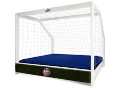 Cool Bed for a soccer loving kid! Hayes never would've gotten out of bed if he had this when he was little, except maybe to play soccer! Soccer Goal Bed Twin Full Queen King Sports by Allstarsports, $999.99