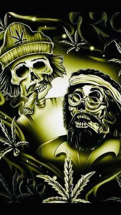 Weed Wallpaper, Graffiti Wallpaper, Skull Wallpaper, Cartoon Smoke, Arte Cholo, Drugs Art, Lowrider Art, Skull Pictures, Skull Art