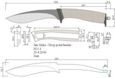 Forging Knives, Knife Template, Knife Patterns, Patent Drawing, Urban Survival, Knife Making, Blacksmithing, Designs To Draw, Clothes Hanger