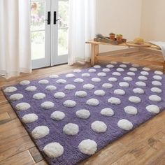 handtufted riley plum white polka dots shag rug 7u00273 x