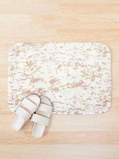 'Pink Gold Camouflage' Bath Mat by Shane Simpson Bath Mat Design, Bath Mats, Iphone Wallet, Pink And Gold, Camouflage, Prints, Stuff To Buy, Bags, Handbags