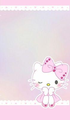 Sanrio Hello Kitty, Hello Kitty Art, Hello Kitty Themes, Hello Kitty My Melody, Hello Kitty Birthday, Sanrio Wallpaper, Kawaii Wallpaper, Iphone Wallpaper, Pink Wallpaper Hello Kitty