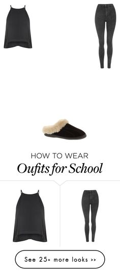 """ready for school "" by mama1017 on Polyvore featuring moda, Glamorous, Topshop e Slippers International"