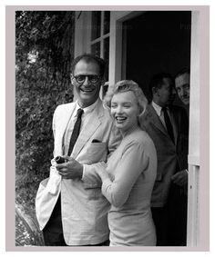 Arthur Miller and Marilyn Monroe, photographic print