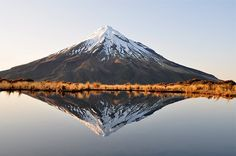 Mt Taranaki, New Zealand ~ an active, but quiescent, volcano