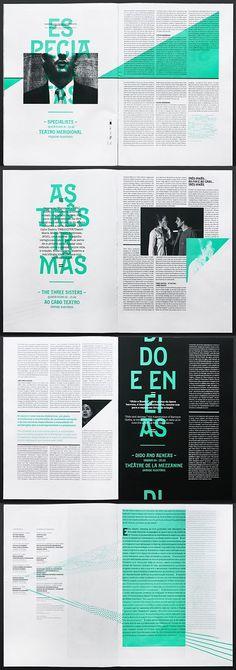 Double Page - Couleur - Noir - Design - Graphic - Festivais Gil Vicente - Atelier Martino
