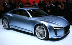 Audi - Audi E-Tron Detroit Concept Hints at New Mid-Engine, Two-Seat Sports Coupe - Motor Trend - MotorTrend Audi R5, Electric Sports Car, Future Car, Concept Cars, Cars Motorcycles, Luxury Cars, Cool Cars, Super Cars, Automobile