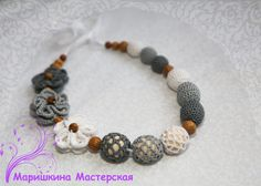 Baby toy  Necklace with flowers  Safe for от SlingNecklaceAndToys