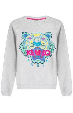 KENZO Embroidered Cotton Sweatshirt. #kenzo #cloth #sweatshirts