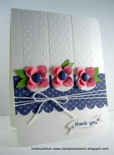 Baby Thanks - Beautiful! www.stampinseasons.blogspot.com   (Linda Callahan)