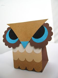 Printable Owl Favor Boxes - Template found here: http://papercrave.com/weekly-wrap-44-free-printable-owl-favor-treat-box-templates/
