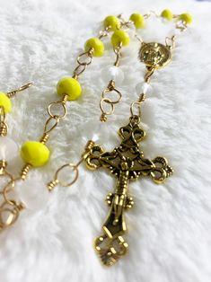 fairycore witch Handmade Wire Wrapped Rose Quartz Fairy Mini Rosary Choker fantasy goblincore