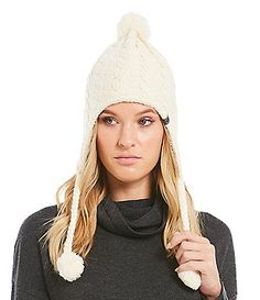 The North Face Fuzzy Earflap Pom Beanie Winter Accessories 6655474bcb9