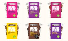 Packaging for Moral Fibre Clever Packaging, Packaging Design, Healthy Bars, Healthy Recipes, Healthy Food, Top Restaurants In London, Banana Berry, Gluten Free Restaurants, Brand Assets