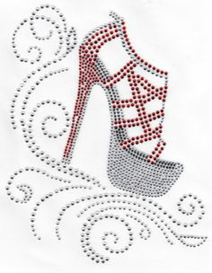 Shoe Wedge Fashion Red Crystal Rhinestone Transfer Girly Things Shoes   eBay
