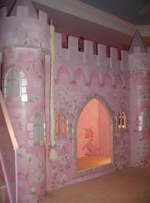 Amanda's Castle Themed Play/Loft Bed By Custom Playhouses