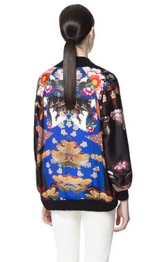 Image 4 of PRINTED ORIENTAL BOMBER JACKET from Zara