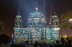 Artist: Nancy Burson. The #FestivalOfLights has invited ten #designers, #creatives and #artists to design the facade of the #BerlinCathedral under the motto #ColoursOfJoy.   #BerlinerDom #Berlin #Colours #Light