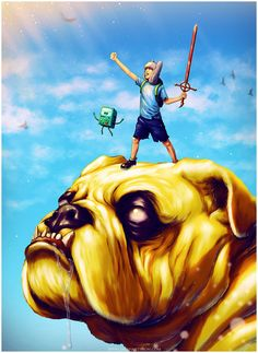 I have been telling myself I would do an Adventure Time piece for a while and I finally got around to it! I love the creativity of the show. Naturally I don't take any credit for Adventure Time its...