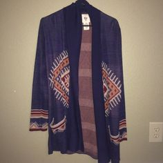 Billabong Tribal Cardigan Size M Very comfortable Billabong cardigan size M. I bought this and only wore it once. Like new condition! Feel free to make any offers :) Billabong Sweaters Cardigans