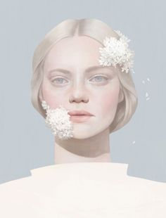 Ethereal, digitally-illustrated portrait by Hsiao-Ron Cheng.