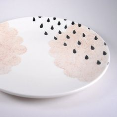 "Rainy-day Cloud 10"" Entree Plates"