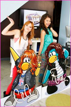 Bella Thorne And Zendaya Coleman Club Penguin Make Your Mark: Ultimate Jam Giveaway