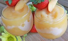 Peach Moscato Wine Slushies!! Just pop the homemade wine cubes in the blender! | Divas Can Cook