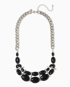 Our contempory collection of jewelry includes bold statement pieces and beaded bib necklaces. Shop charming charlie's necklaces now! Bib Necklaces, Fashion Jewelry Necklaces, Minimalist Necklace, Statements, All Black, Silver, Black, Money