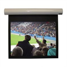 Vutec Lectric I Matte Black Electric Projection Screen Low Voltage Motor Viewing Area: 1