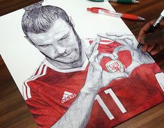 "Check out new work on my @Behance portfolio: ""Gareth Bale Ballpoint Pen Drawing""…"